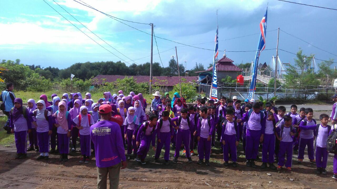 Guru memberikan pengarahan kepada Siswa SD Muhammadiyah Kutoarjo Purworejo