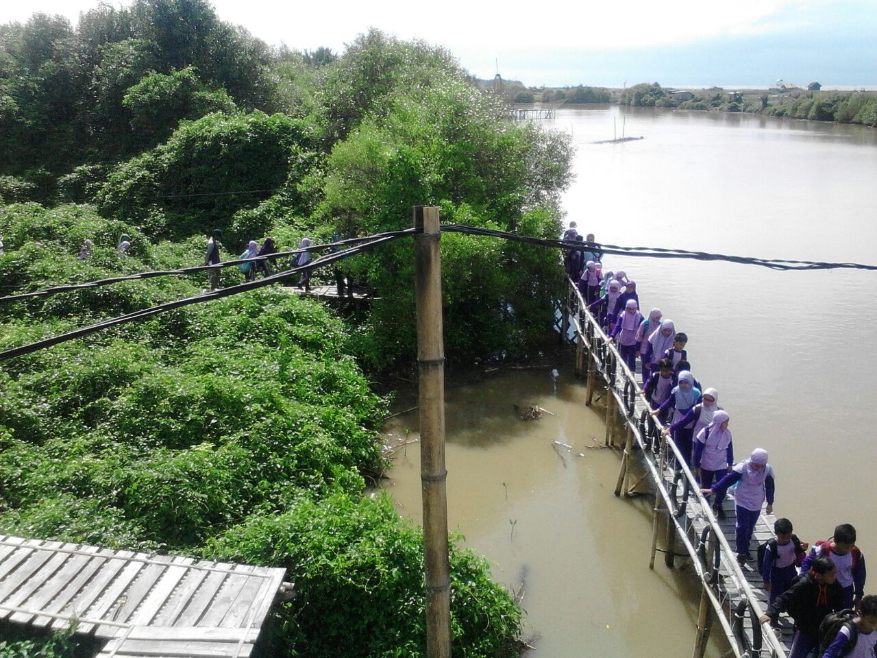 Aktifitas Siswa SD Muhammadiyah Kutoarjo di Pantai Congot