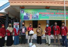 Berikan Sosialisasi New Reality, IMM UMP Bagikan Seribu Botol Hand Soap Hingga Paket Sembako
