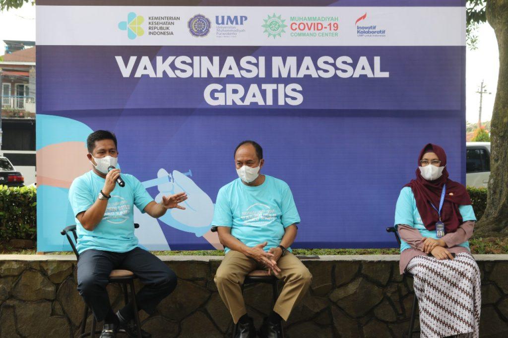 Kampus Kemanusiaan, UMP Gelar Vaksinasi Massal untuk Lintas Agama